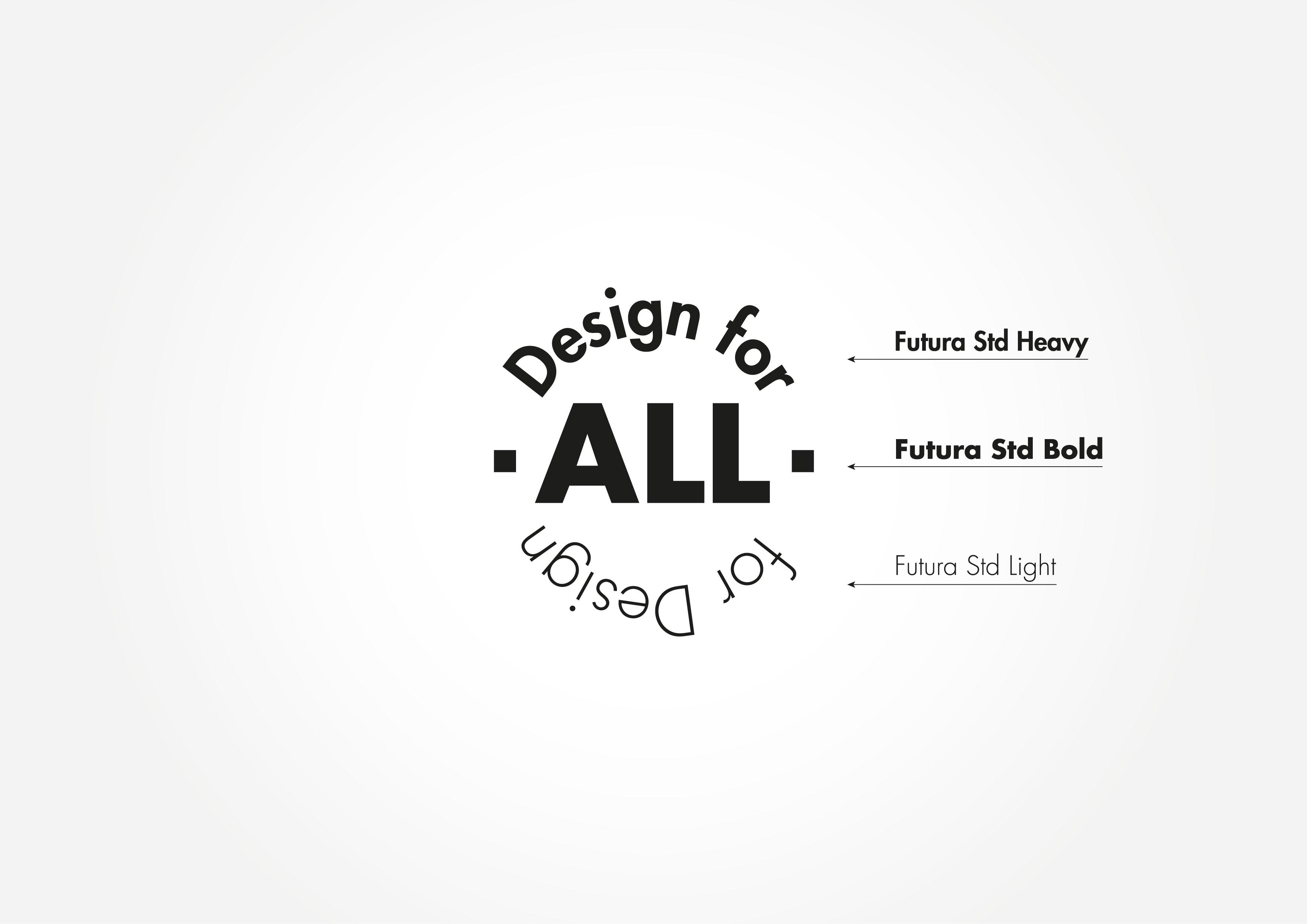 Design for All for Design - font